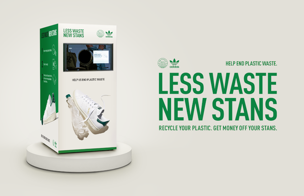 Stan Smith's Recycling Machine Lets You Get New Trainers with Plastic Bottles