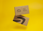 Small Businesses Encourage People to Shop Local with Business Cards Made from Used Amazon Boxes