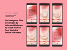 Johnson & Johnson Uses Instagram Filters to Guide Breast Self-Examination