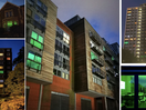 Homes Shine Green for Grenfell's Third Anniversary Silent March