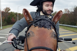 Famous Yeller Paul Revere and Horse-Motorcycle star in Coverage Coalition's New TV Campaign 