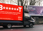 Virgin Media Calls Out BT Billboards with the B*** ***T Van