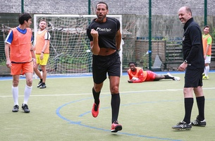 Football Legends Surprise Amateur London Team in Five-a-Side Match