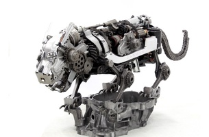 These Striking Sculptures Are Made from Spare Car Parts