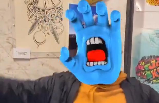 Screaming Hand AR Project for Santa Cruz Skateboards Makes Users Social Media Stars