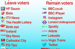 The Top 10 Brands Favoured by Remainers and Brexiters