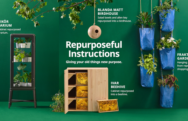 IKEA Canada Repurposes Iconic Instructions to Turn Old Furniture into Something New