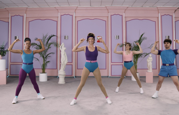 Skittles Work it Out in '90s Style Workout Video for Skittles Gummies