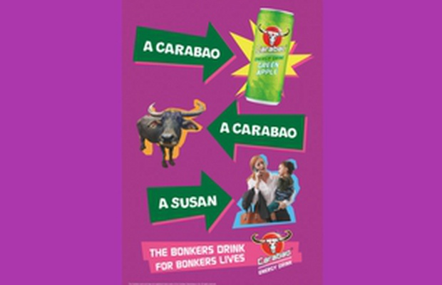 Carabao Energy Drink Launches New Zany Print Campaign