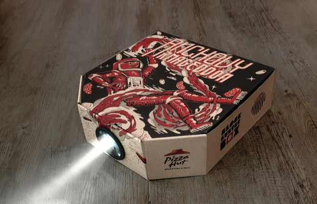 Ogilvy Hong Kong Creates World's First Pizza Box Movie Projector