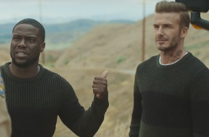 Kevin Hart Takes David Beckham on the Road for H&M