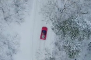 Director Luke Huxham Hits the Snowy Slopes for Latest Ferrari Spot