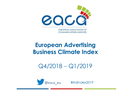 Confidence in European Ad Business Rose Slightly in Fourth Quarter of 2018