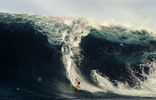 It's Sink or Swim Time as Greenpeace's Towering Wave Sends a Stark Climate Message