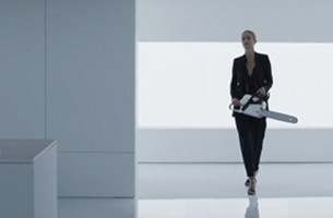 Supermodel Carolyn Murphy Takes a Chainsaw to a Kitchen in This Mesmerising Ad