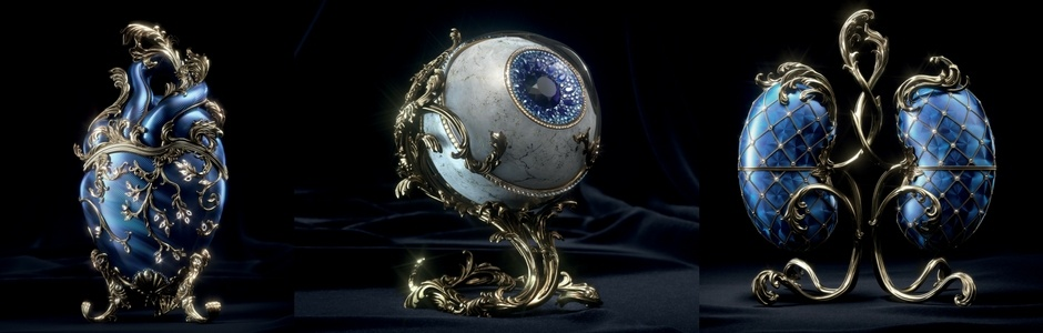 McCann Health's Fabergé Eggs Reimagine Human Organs to Highlight the Value of Organ Donations