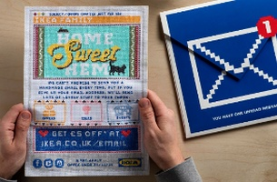 LIDA Handcrafts New Campaign for IKEA With Cross-Stitched Mailers