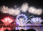 London's Fireworks Celebrate a New Decade and Mark the Start of the UEFA EURO 2020 Year