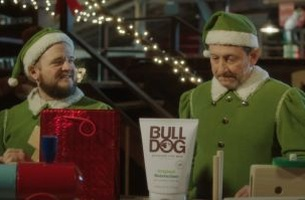 Awkward Christmas Elves Front Bulldog's First Ad from adam&eveDDB