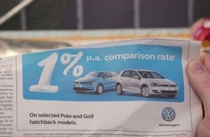 Volkswagen Pushes its 1% Finance Comparison Rate in New Retail Campaign via DDB Sydney