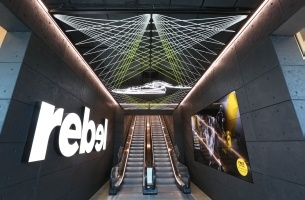 IdeaWorks Sydney & Rebel Create the 'Stadium of Sport' with New Store
