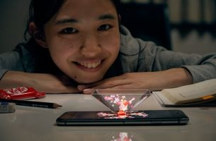 KIT KAT's Singing Hologram Offers Cheer to Hard-working Students