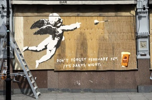 Banks's Graffiti Campaign Tells It Like It Is