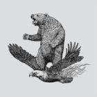 Bear Meets Eagle on Fire