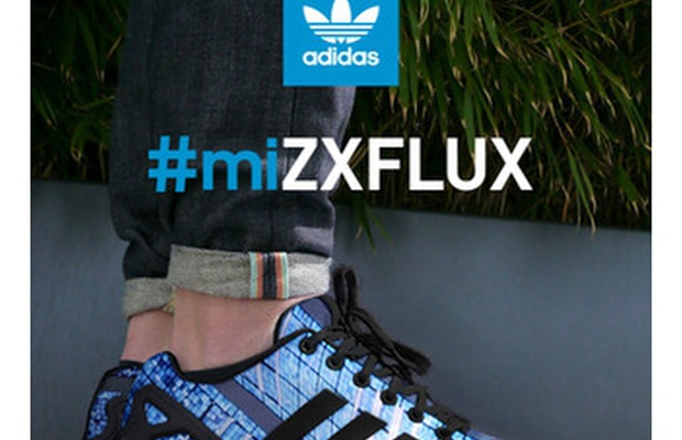 7cd0d5a98a32 Customise Your Own ZX FLUX Trainers with adidas  miZCFLUC App ...