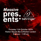 Synth Galore and Live Music. Get Ready for MassivePresents: Behringer