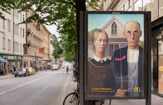 Nord DDB Sweden Puts Bacon on Famous Artworks for McDonald's