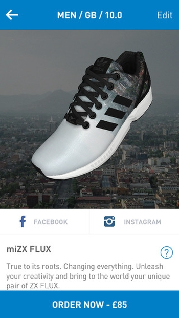 9c976176be2e7b Customise Your Own ZX FLUX Trainers with adidas  miZCFLUC App ...