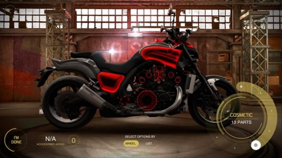 build your own bike with yamaha 39 s 39 my garage 39 interactive experience lbbonline. Black Bedroom Furniture Sets. Home Design Ideas
