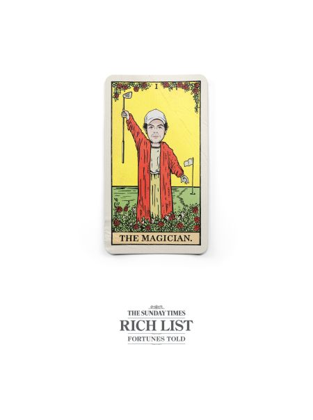 The Sunday Times Turns the Beckhams into Tarot Cards for Annual Rich
