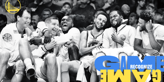 71a502228e3 Two TV spots give viewers the thrill of a cross-generational Warriors game  where past legends like Rick Barry and Baron Davis make plays and drain  shots ...