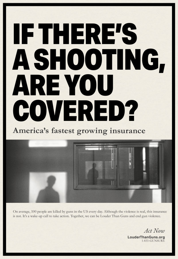 These Dystopian Insurance Ads Confront The Normalisation Of Gun Violence In The Us Lbbonline