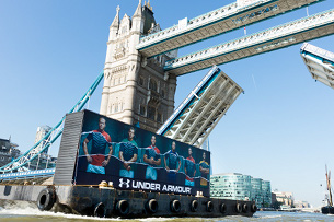 Under Armour Kicks Off Rugby World Cup Campaign with Huge Floating Mural on The Thames