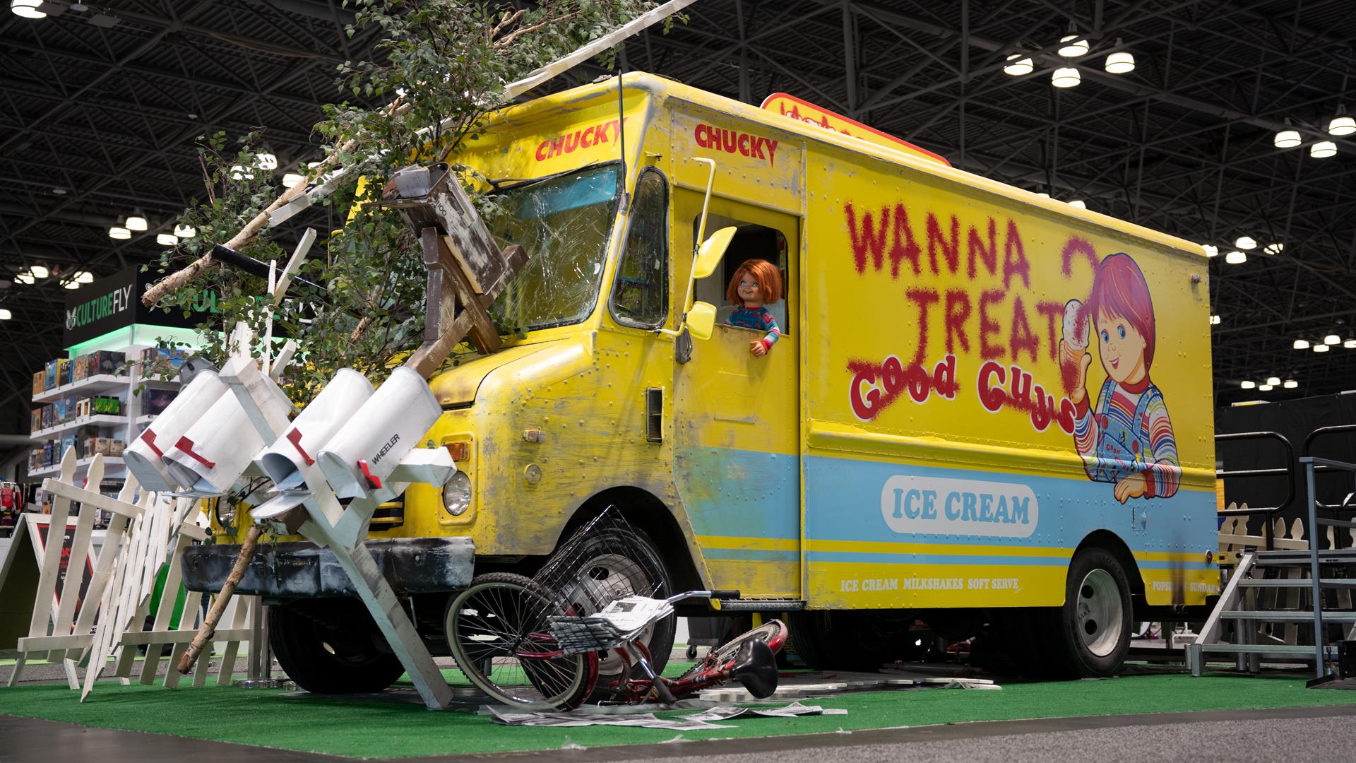 USA/SYFY's Chucky and The Many Crashed New York Comic Con