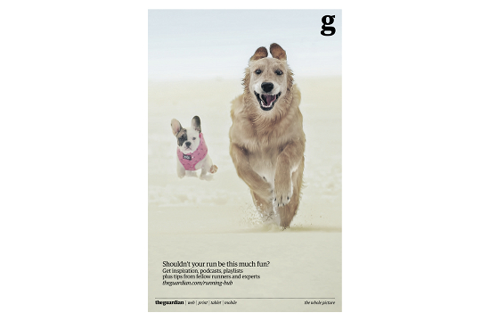 Dogs Run Happy in New Guardian Campaign