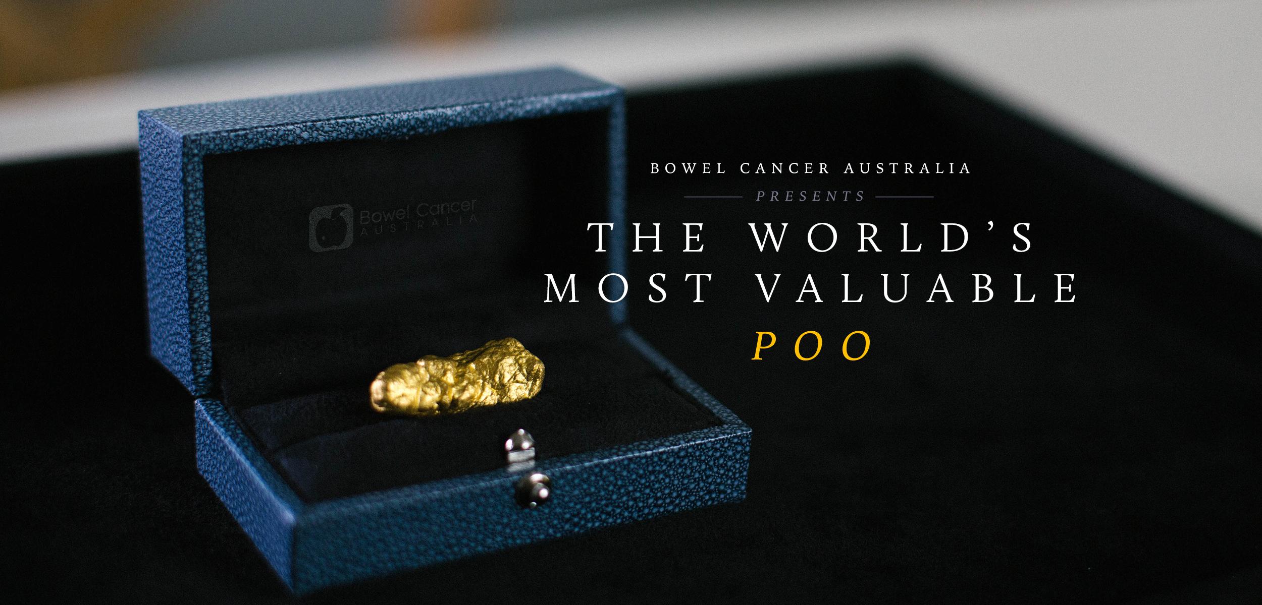 BWM Dentsu Create World's Most Valuable Poo for Bowel Cancer Australia