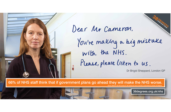 other Wins 38 Degrees 'Save the NHS' Poster Campaign