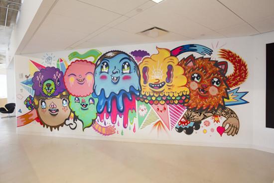Arnold NY's Indoor Graffiti Mural