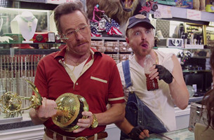 Breaking Bad Stars Swap Meth Lab for Barely Legal Pawn in Emmy Spoof