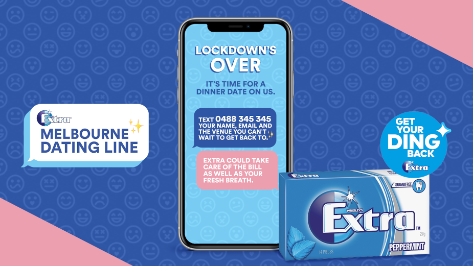 Mars Wrigley's Extra Helps Melburnians Get Their Ding Back with Very Own Dating Line