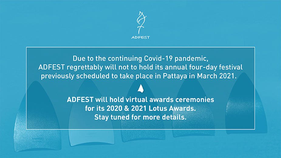 ADFEST Announces Virtual Award Ceremony for 2020/2021 Lotus Awards and Opens 2021 Call for Entries