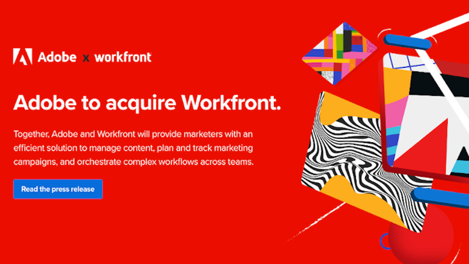 Adobe Enters Agreement to Acquire Workfront