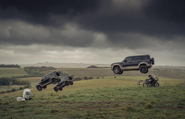 Land Rover Defender Files into Action for the Ultimate James Bond Test
