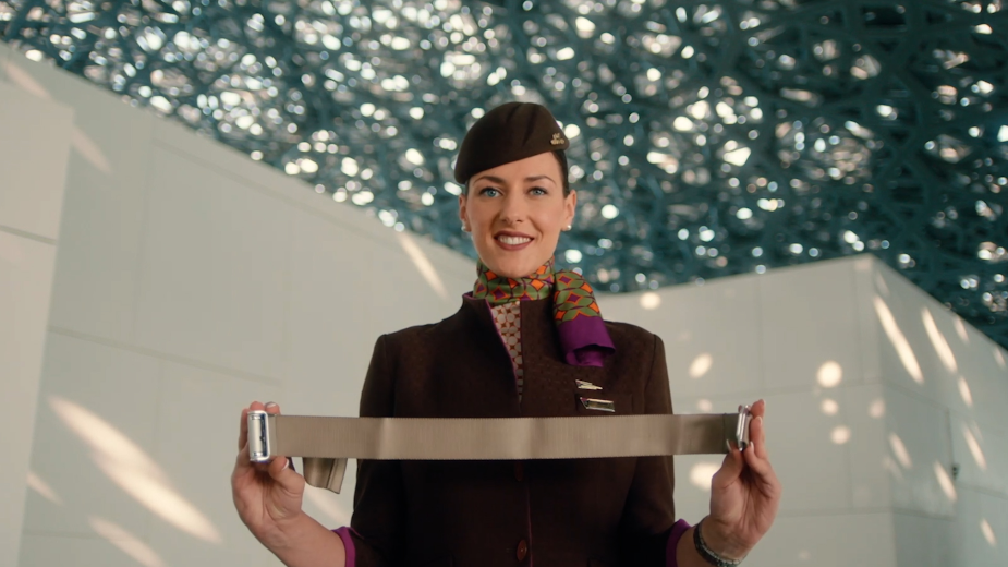 Etihad Airways Showcase Abu Dhabi's Iconic Louvre for Latest Safety Video