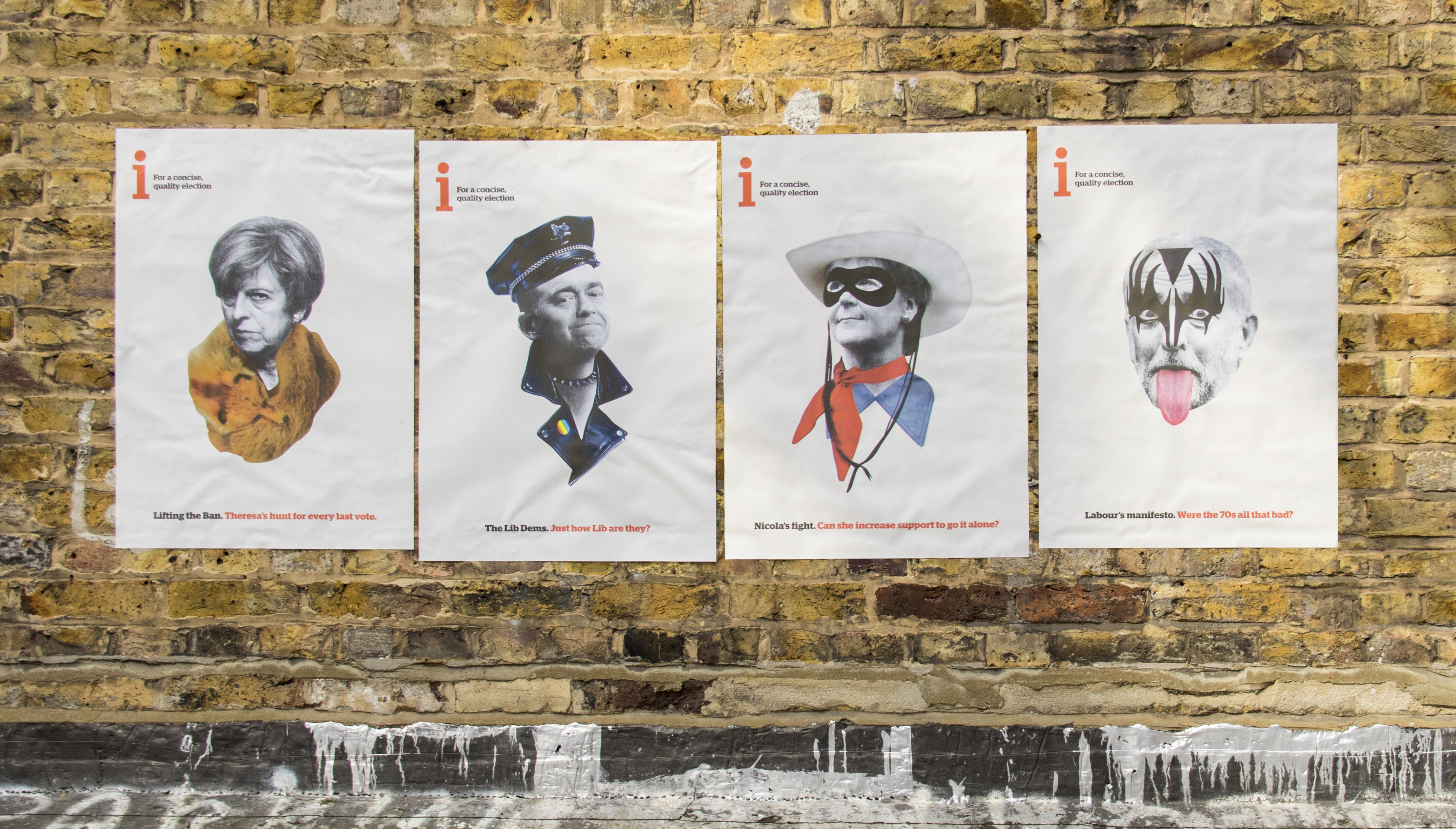 i Newspaper Pokes Fun at Party Leader Downfalls in Amusing UK Election Prints