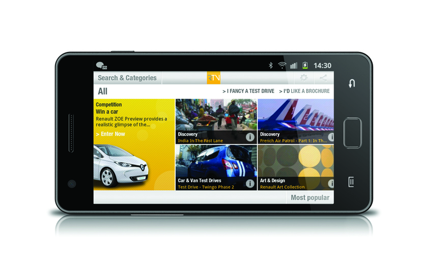 Renault Launches Renault TV Apps